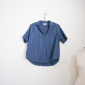 Madewell courier Button Back Shirt Festival Stripe